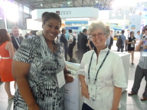 Me with Tyson Greer in Shanghai for Mobile Asia Expo 2013 for my job in mobile telecoms. Photo taken by Sam Adkins.